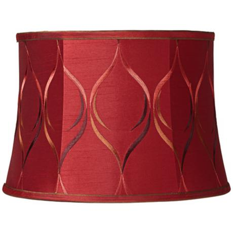 Merlot Embroidered Drum Lamp Shade 13x15x10.5 (Spider)