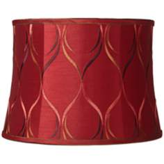 Merlot Embroidered Drum Shade 14x16x11.5 (Spider)