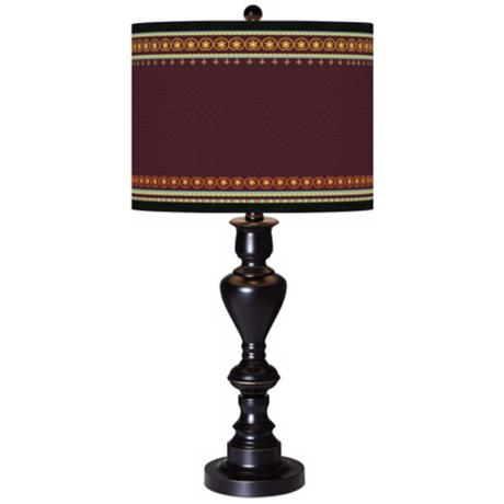 Stacy Garcia Ebro Garnet Giclee Glow Black Bronze Table Lamp