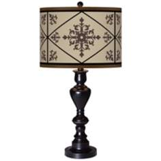 Chambly Giclee Glow Black Bronze Table Lamp