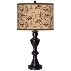 Fall Breeze Giclee Glow Black Bronze Table Lamp