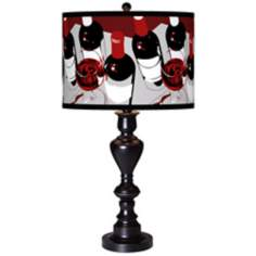 Vintage Giclee Glow Black Bronze Table Lamp