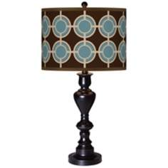 Stacy Garcia Porthole Giclee Glow Black Bronze Table Lamp