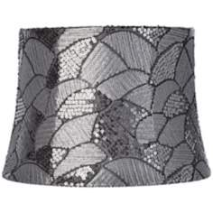 Fan Gray Sequins Drum Shade 10x12x8.5 (Spider)
