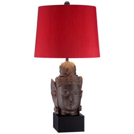 Serene Buddha Pedestal Table Lamp