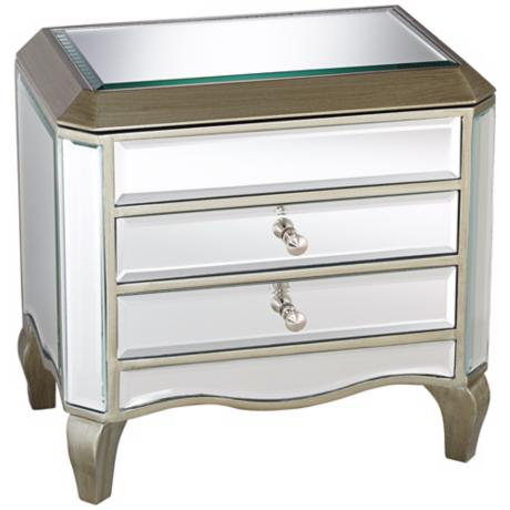 Mirrored 2 Drawer Glass Jewelry Box