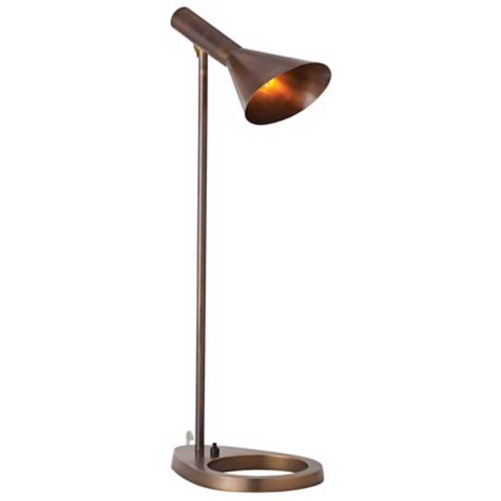 Arteriors Home Wilton Vintage Brass Desk Lamp