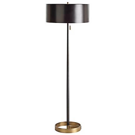 Arteriors Home Violetta Brass and Black Iron Floor Lamp