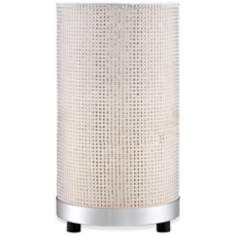 Faux Diamond Studded Cylinder Accent Lamp