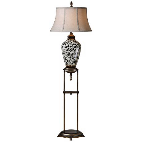 Uttermost Malawi Antique Silver Floor Lamp