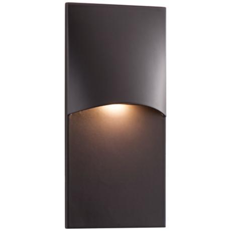 "Crescent Top 4 3/4"" High Bronze LED Step Light"