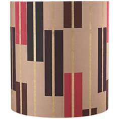 Geometric Shapes Gold Lamp Shade 11.5x11.5x12 (Spider)