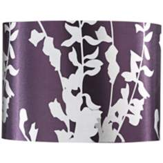Plum and Silver Oval Lamp Shade 7.5/13x7.5/13x9.5 (Spider)