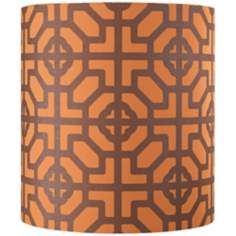 Geometric Shapes Orange Lamp Shade 11.5x11.5x12.5 (Spider)