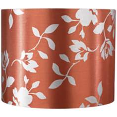 Rust Satin Leaf Print Lamp Shade 14x14x11 (Spider)