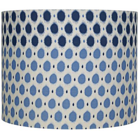 Blue Dots Cream Cotton Lamp Shade 14x14x11 (Spider)