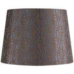 Pewter Gold Flocking Lamp Shade 11.5x14x10 (Spider)