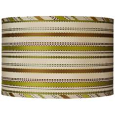 Jamie Young Chartreuse Ribbon Silk Shade 15x15x10 (Spider)