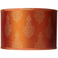 Jamie Young Rust Raj Stamp Drum Shade 15x15x10 (Spider)