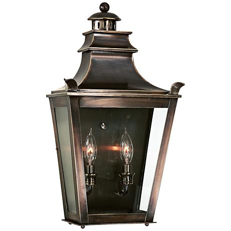 "Dorchester 20 1/4"" High English Bronze Outdoor Wall Light"