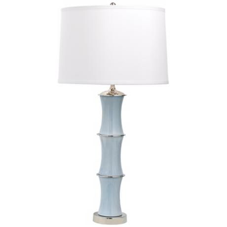 Rivoli Gray Porcelain Table Lamp