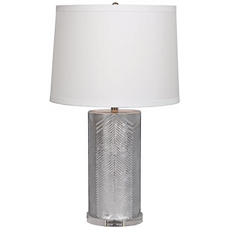 Westwood Silver Chevron Glass Table Lamp