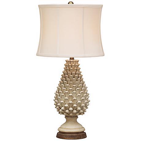 Artichoke Crackle Tuscan Table Lamp