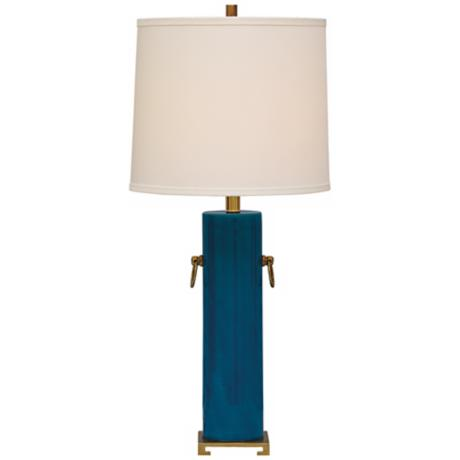 Beverly Turquoise Ceramic Table Lamp