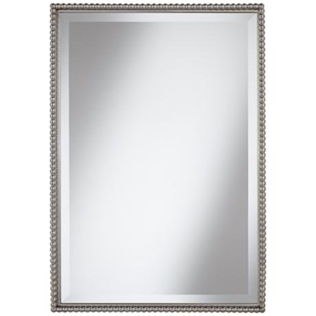 "Uttermost Sherise Beaded 31"" High Rectangular Wall Mirror"
