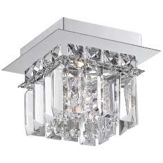 "Alico Crown 6"" Wide Crystal and Chrome Ceiling Light"