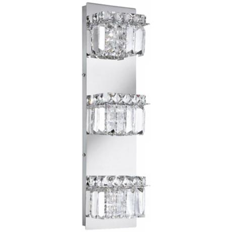 "Alico Crown 19 3/4"" High Crystal and Chrome Wall Sconce"