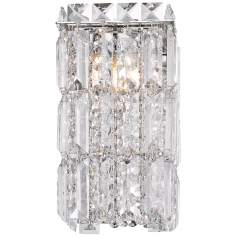 "Alico King Crown 8 1/2"" High Crystal and Chrome Wall Sconce"