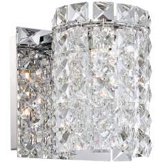 "Alico Queen 6"" High Crystal and Chrome Wall Sconce"