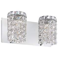"Alico Queen 12 3/4"" Wide Crystal and Chrome Bathroom Light"