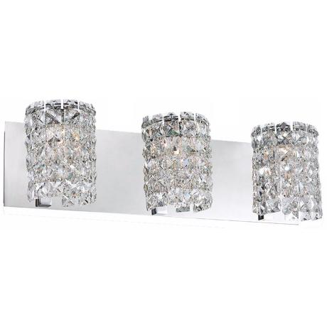 "Alico Queen 20 1/4"" Wide Crystal and Chrome Bathroom Light"