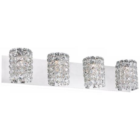 "Alico Queen 27 3/4"" Wide Crystal and Chrome Bathroom Light"