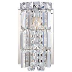 "Alico Princess Crown 8 1/2"" High Chrome Glass Wall Sconce"