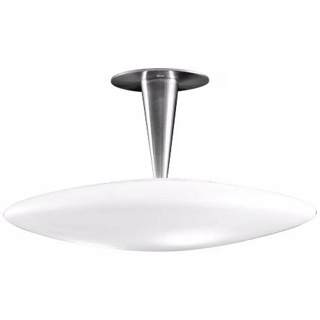 "Alico Toro 16"" Wide White Opal Glass Ceiling Light"
