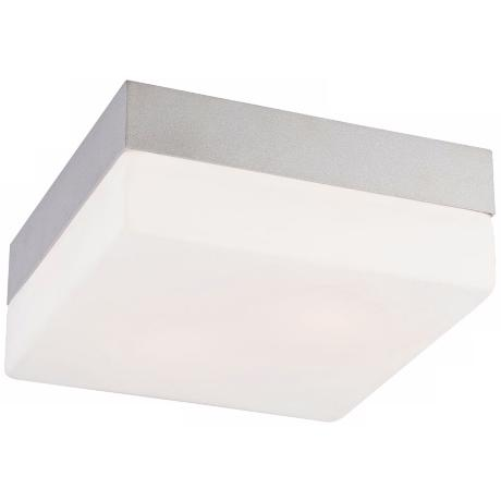 "Quad Medium 7 1/2"" Wide Metallic Gray Ceiling Light"