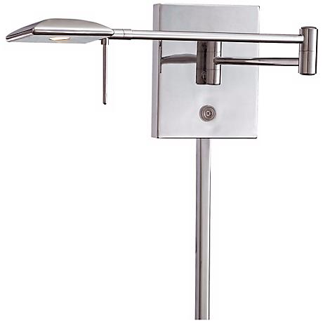 George Kovacs Square Head LED Chrome Swing Arm Wall Lamp