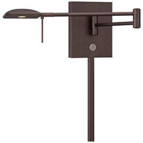 George Kovacs Square Head LED Bronze Swing Arm Wall Lamp