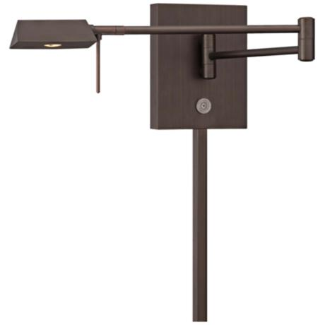 George Kovacs Angular Head LED Bronze Swing Arm Wall Lamp