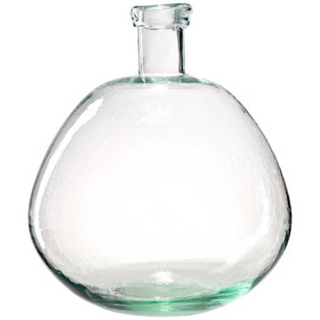 Bubble Light Green Hand-Blown Glass Vase
