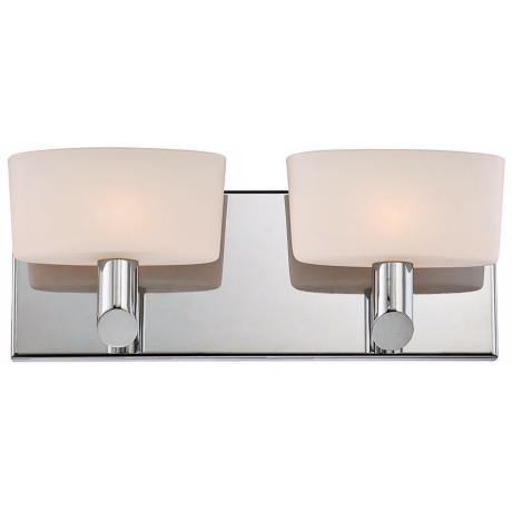 "Alico Toby 13 1/2"" Wide Chrome Bathroom Light"