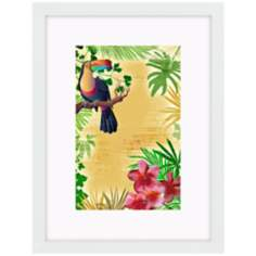 "Yellow Tropical Toucan 17"" High Bird Wall Art"