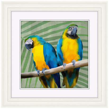 "Parrot Love I 22"" High Bird Wall Art"