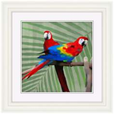 "Parrot Love II 22"" High Bird Wall Art"