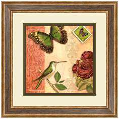 "Humming Love II 24 1/2"" High Butterfly Wall Art"