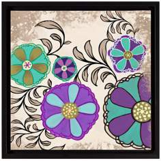 "Intricate Purple Flowers II 18 1/2"" High Floral Wall Art"