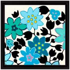 "Lovely Blue Flowers I 18 1/2"" High Floral Wall Art"